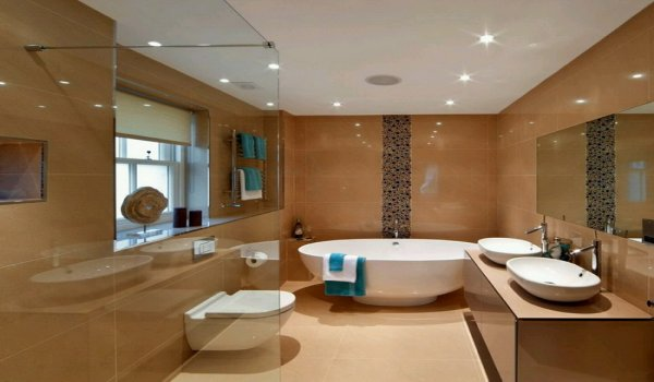 Simple Brown Bathroom with White Bath Tubs. Is it wise to spend fortune on washrooms and toilets    Zameen Blog