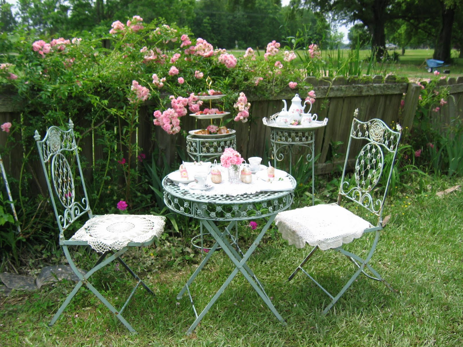 Every garden has a story and this one is of mine zameen blog for Garden tea party table decorations