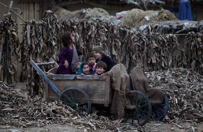 Happy kids in slums of Islamabad