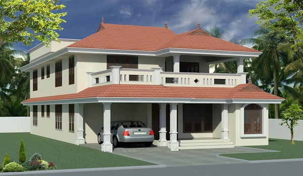 the indian veranda style house is a traditional construction style