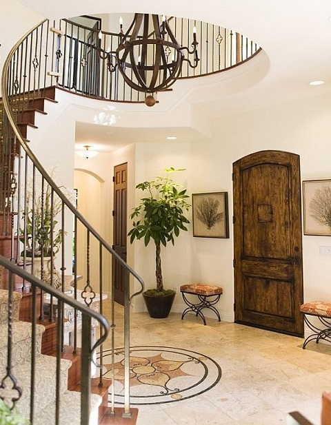3-The simple and delicate staircase railing is best suitable for an open entrance where the surrounding area can benefit from the sublime beauty of it.