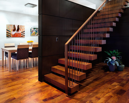 A simple yet elegant way leading to the first floor of your house.