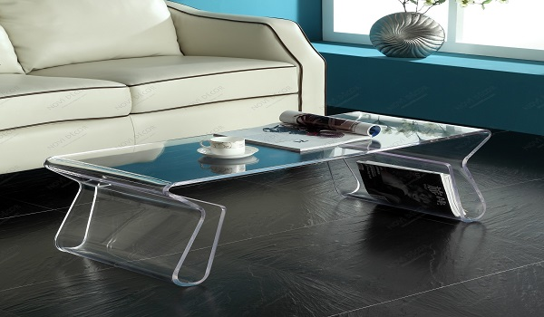 Use acrylic sheets to add style to your home zameen blog for Used acrylic coffee table