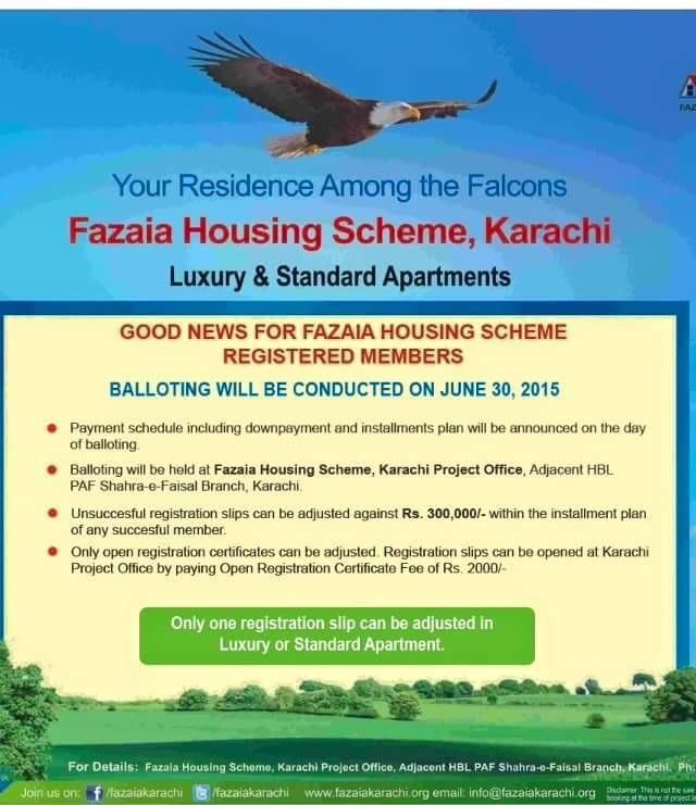 Fazaia Housing Scheme Karachi