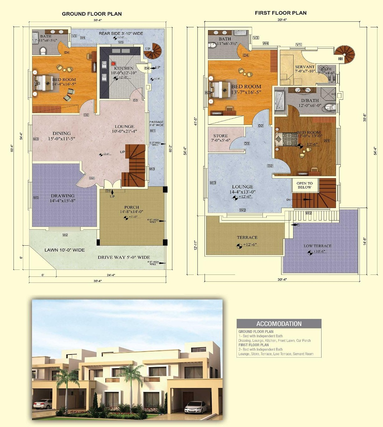 All about possession development and quality of quaid for Villa floor plans