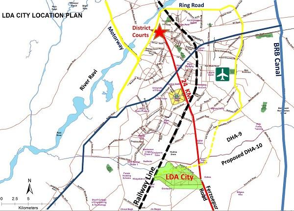 LDA City Location Plan
