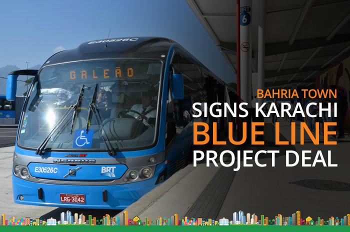 Bahria town signs karachi blue line project deal with a for China railway 13 bureau group corporation
