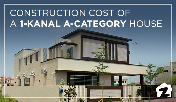 Construction cost of a 1-kanal A-category house