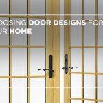 Choosing door designs for your home