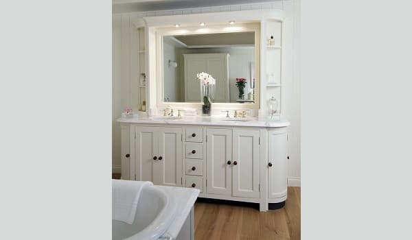 Contemporary vanities can change the look of the bathroom