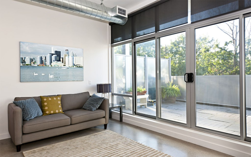 Sliding glass panels is an amazing idea to use glass in your home decor