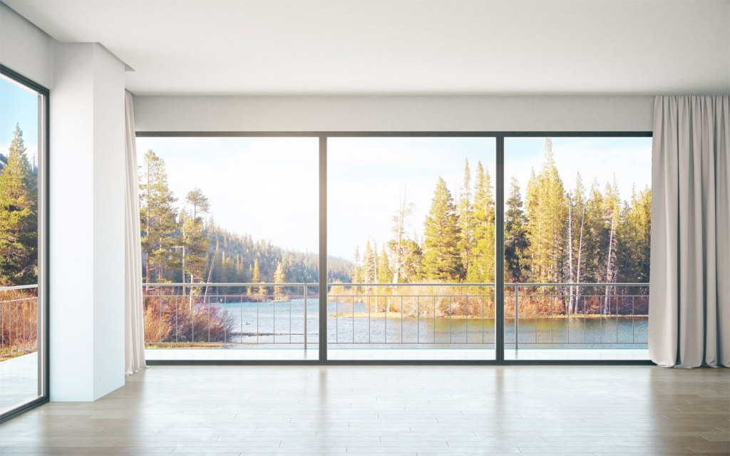 glass wall is a creative way to incorporate glass in interior