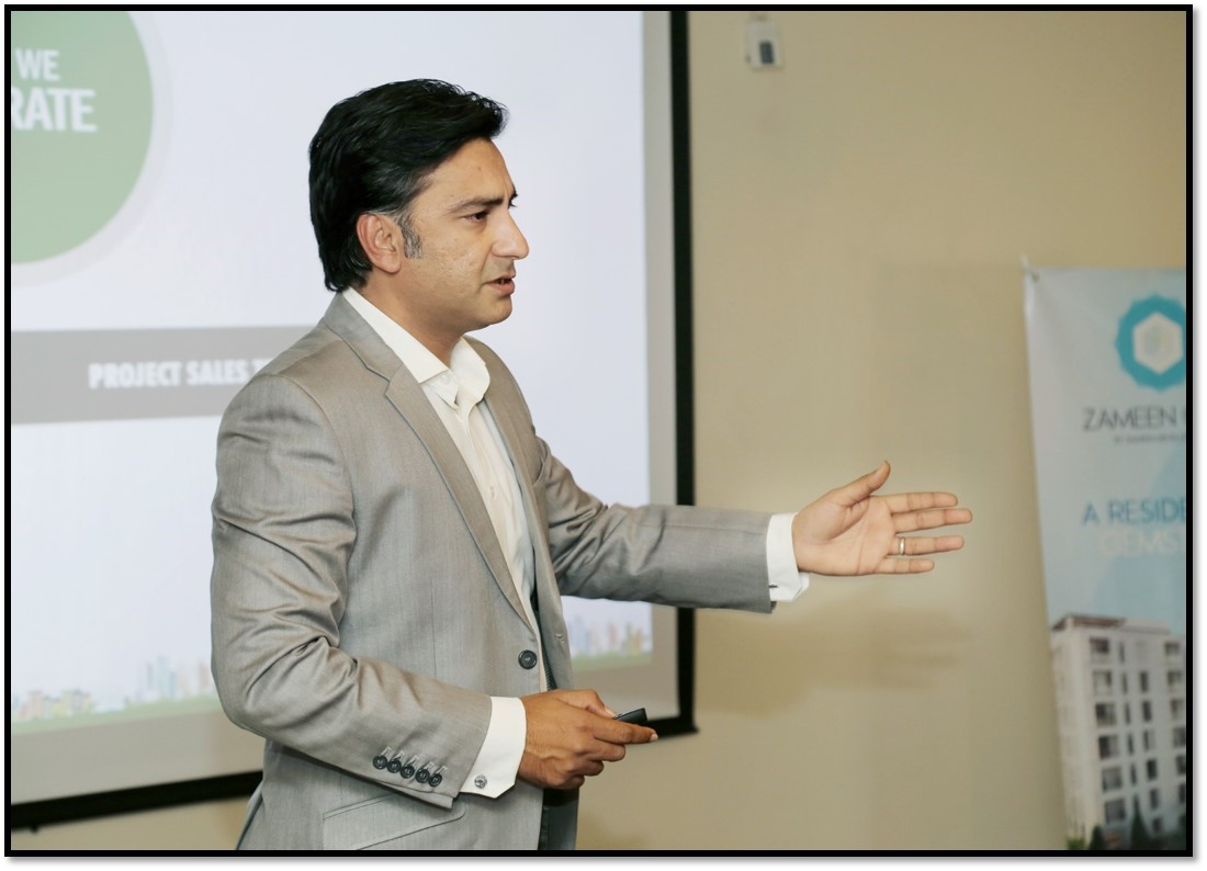Agha Sultan Mehdi, Manager Affiliate Network is giving an orientation