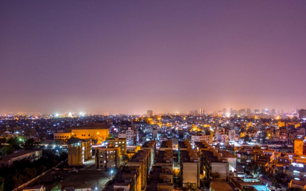 Karachi Skyline at Night