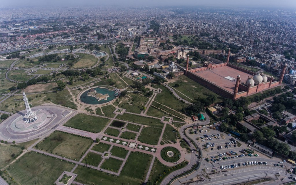 Aerial View of Lahore's Famous Monuments
