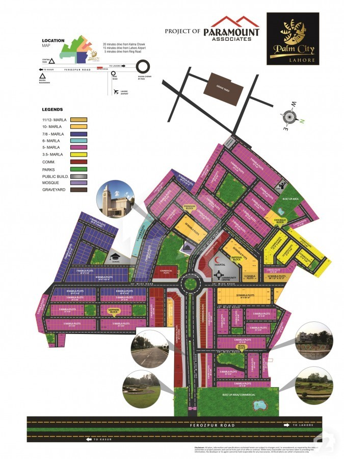 Map of Palm City Lahore