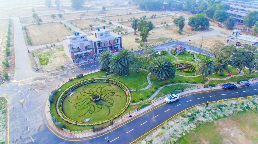 Aerial view of Palm City Lahore