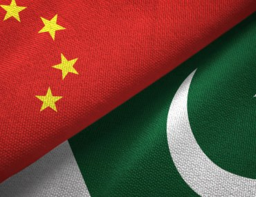 China Pakistan Flags Together