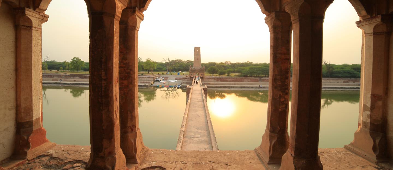 Historical Hiran Minar in Sheikhupura, Punjab