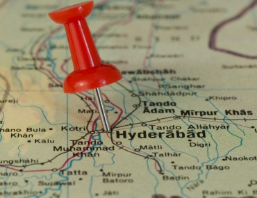 Map of Hyderabad Pakistan