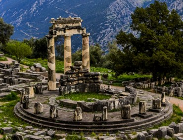 Sanctuary of Athena in Delphi Greece