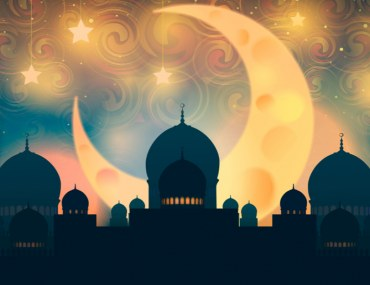 Crescent Moon With Mosque