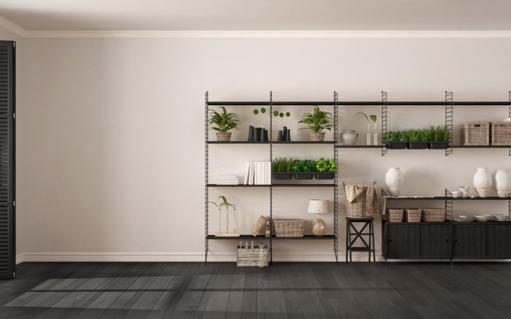 Industrial vertical garden bookshelf