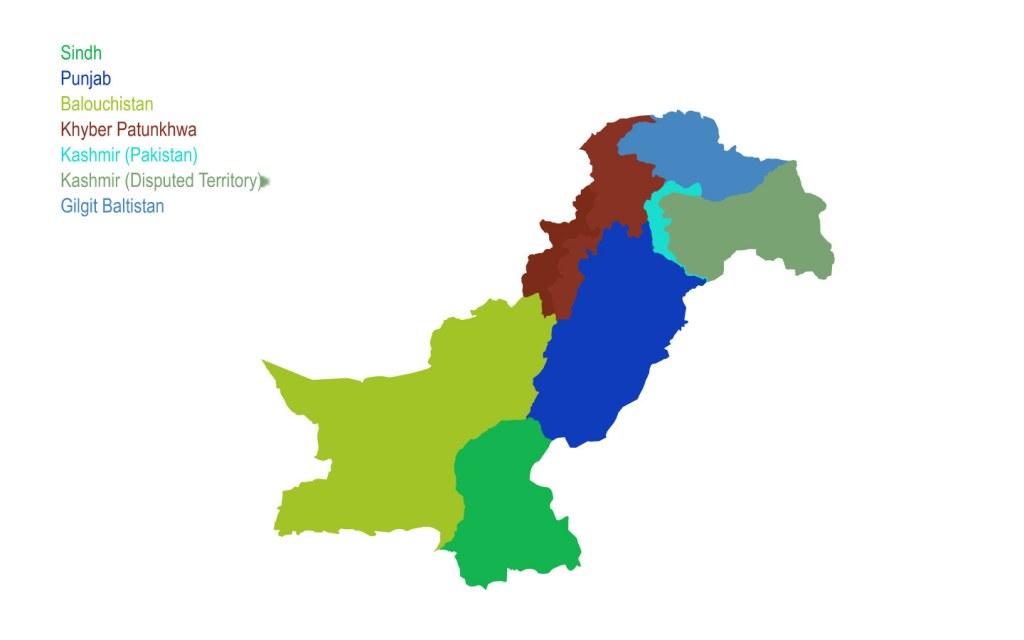 Location of Azad Kashmir