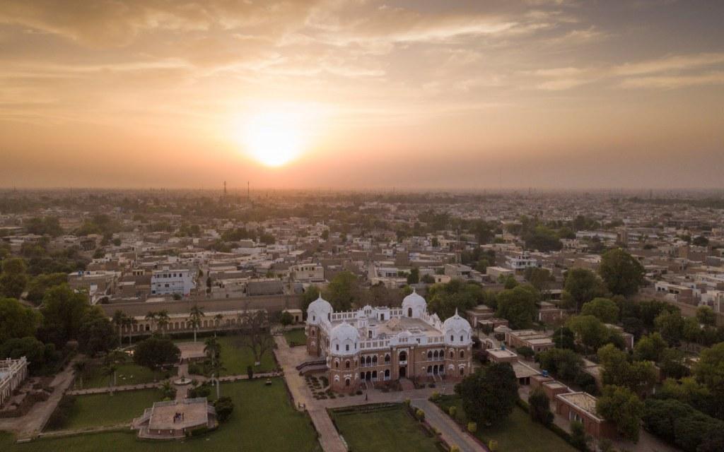 Aerial view of Bahawalpur in Pakistan