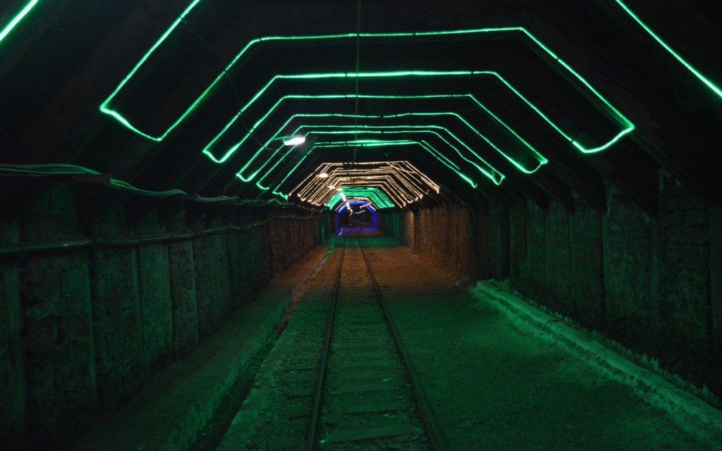 Khewra Mines Entrance with Lights
