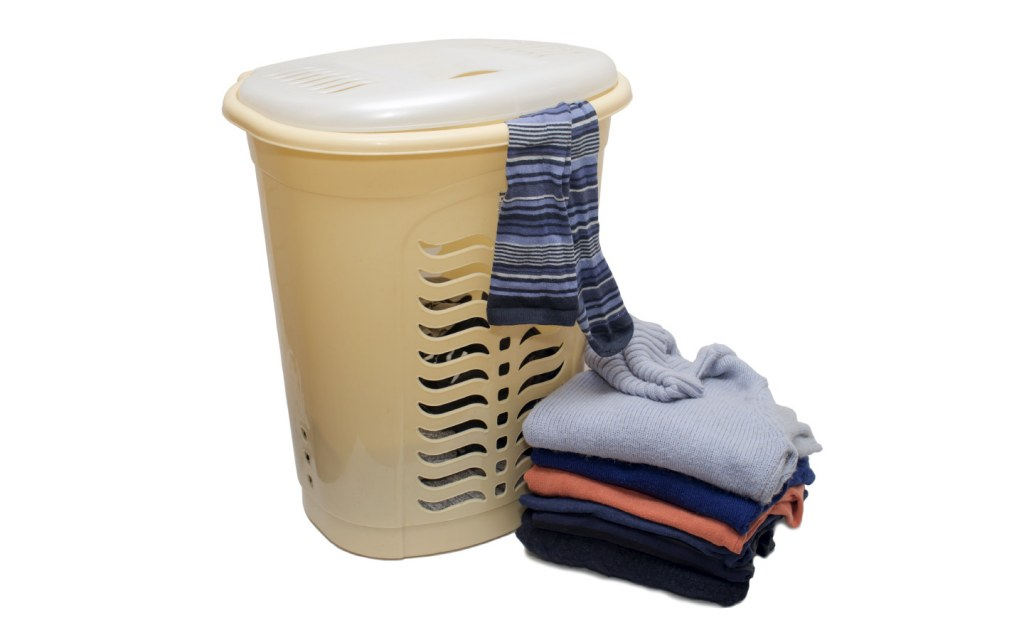 Laundry Basket with Clothes