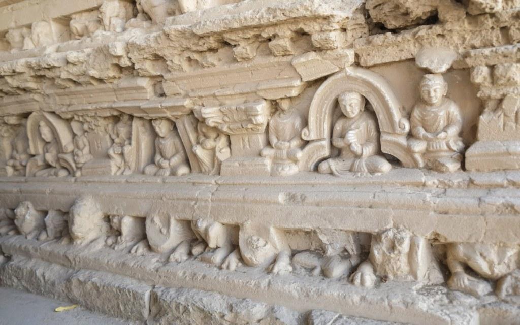 Carvings on Jaulian Stupa, Taxila