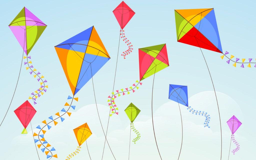 Colourful Kites