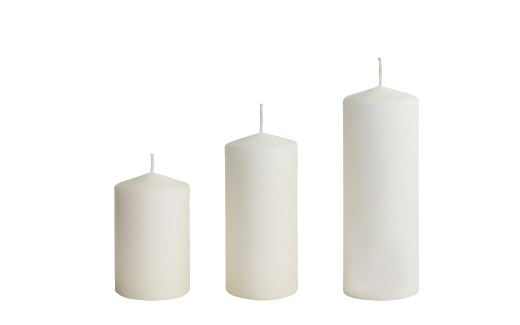 White Paraffin Candles