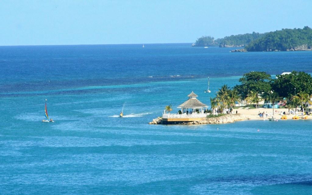 Blue beaches of Jamaica