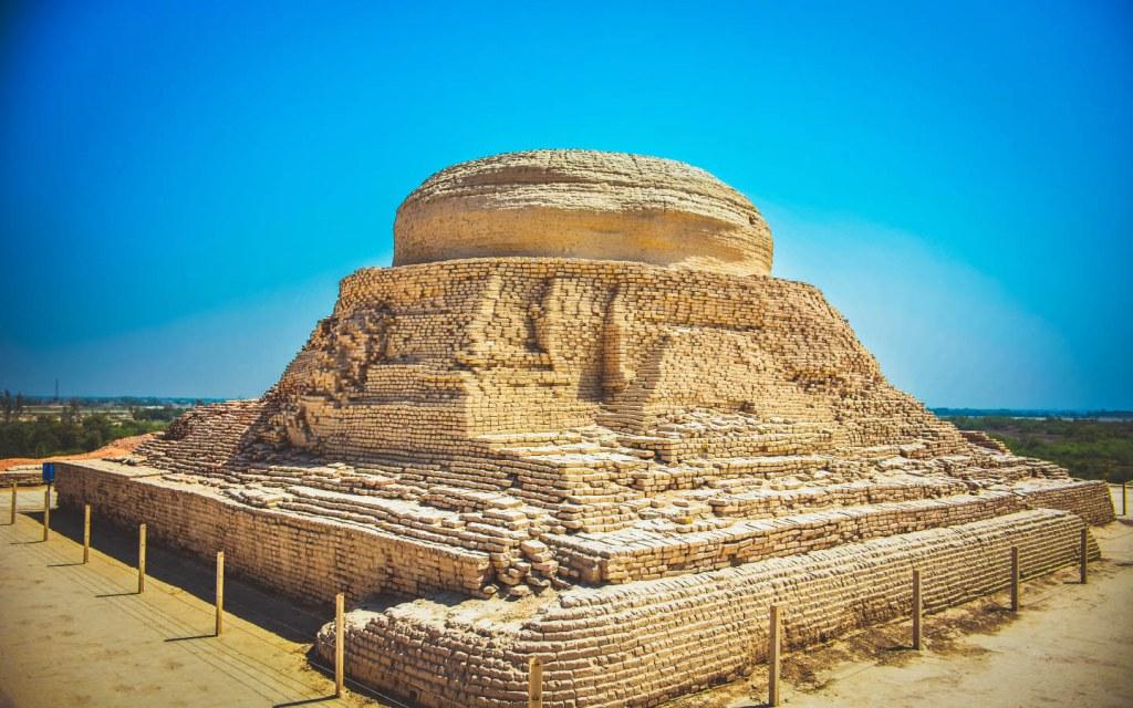 Excavated Buddhist Stupain Mohenjo Daro