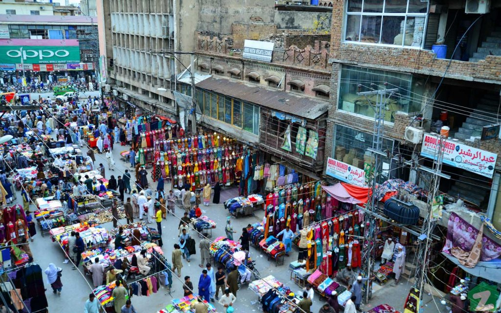 An Aerial View of a Market