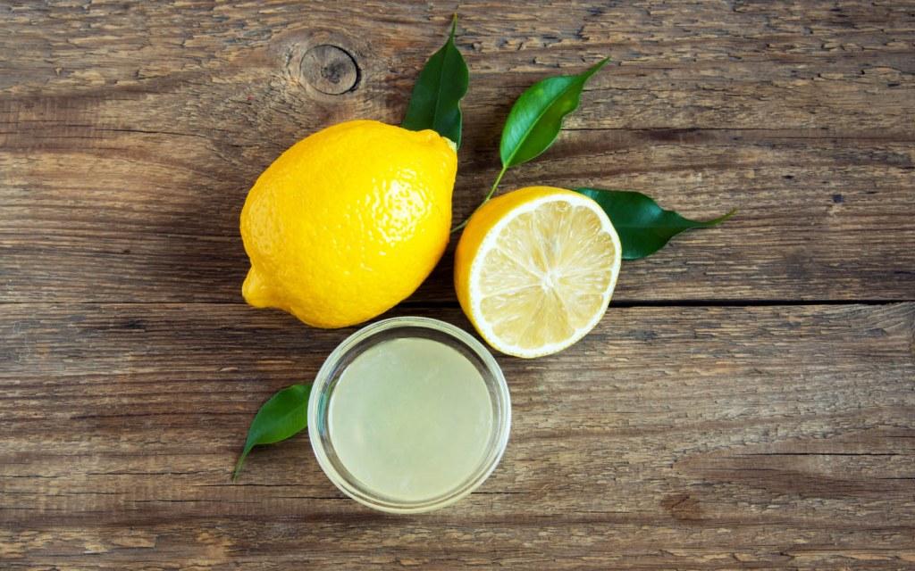 Lemon juice on a table