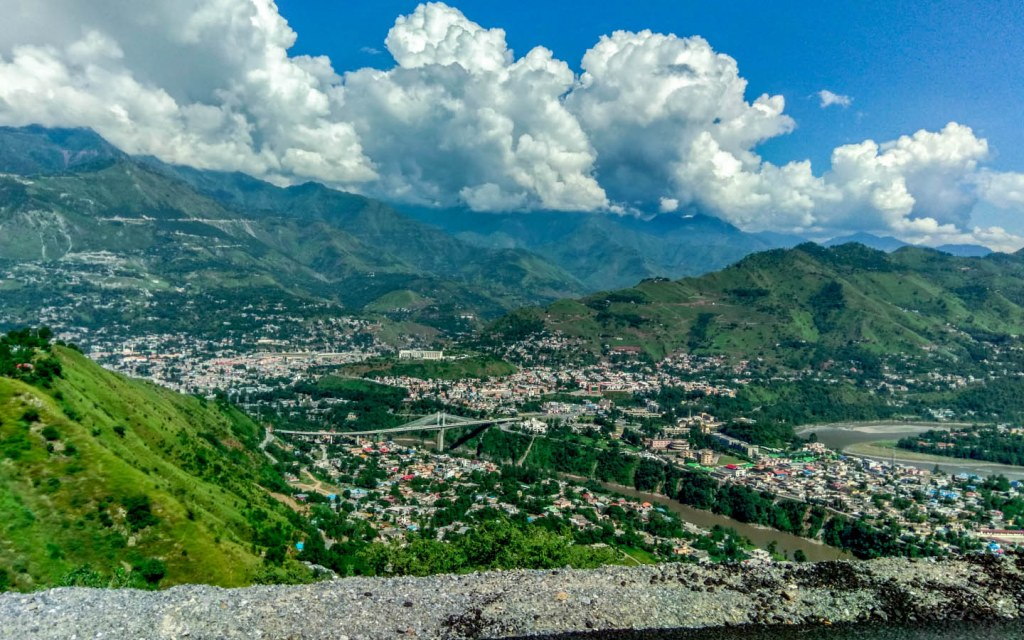 View of Muzaffarabad in Kashmir
