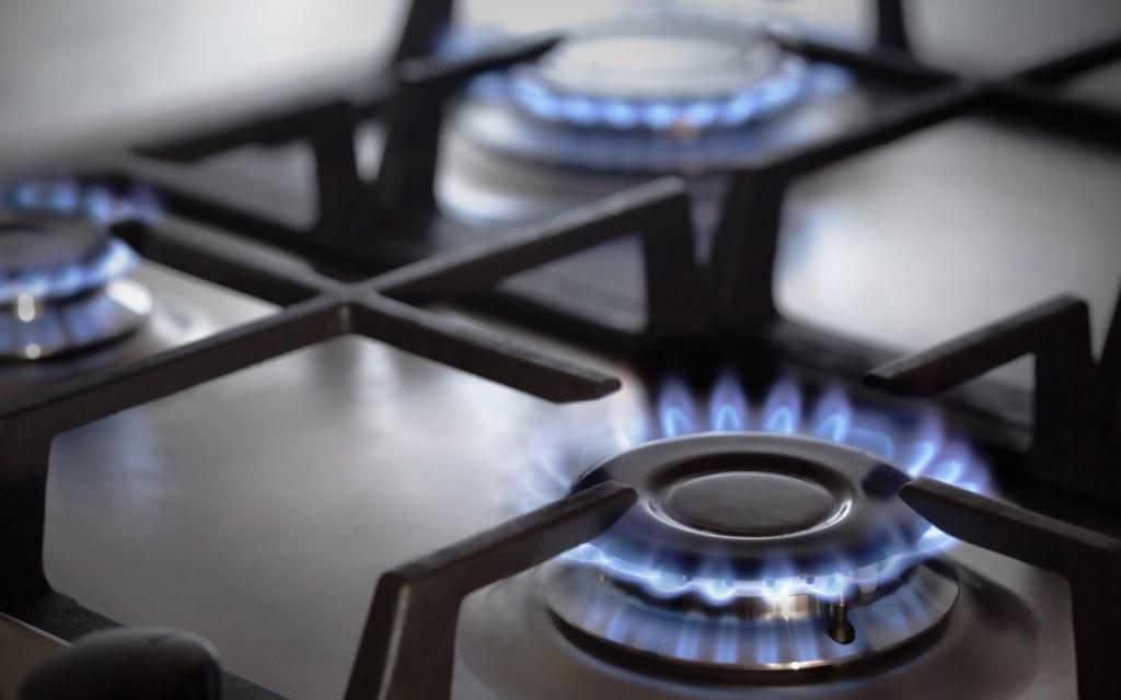 stove burner in kitchen