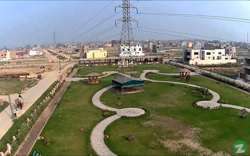An aerial view of Bismillah Housing Scheme