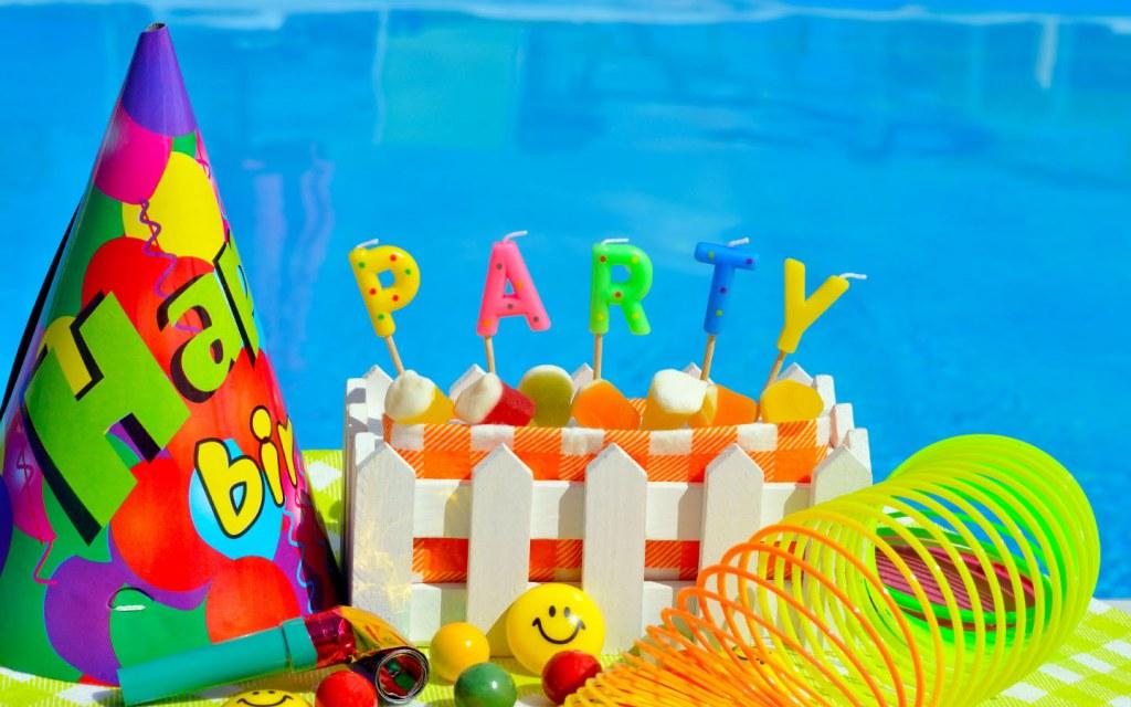 Birthday Party near Pool