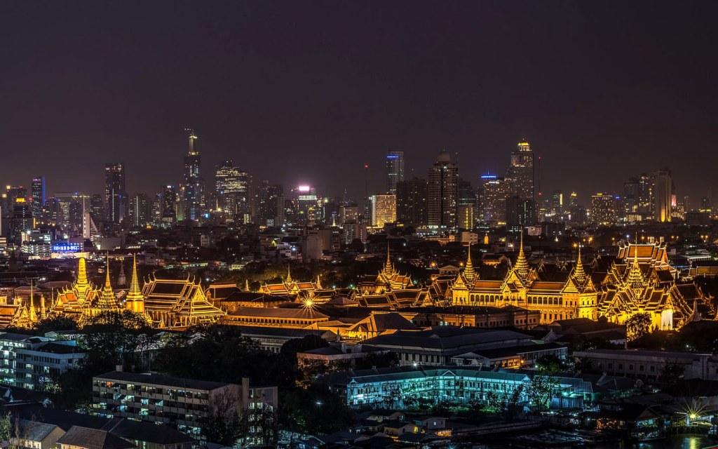 a night skyline of Thailand