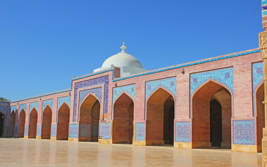 View of historical Shah Jehan Mosque in Thatta
