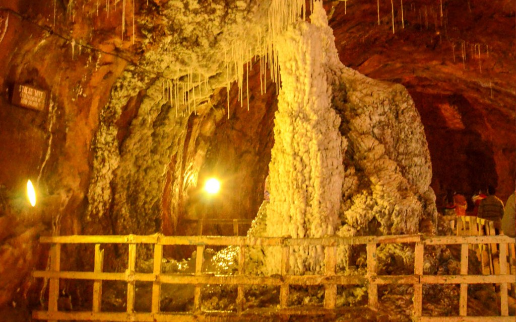 Salt Fountain inside Khewra Mines