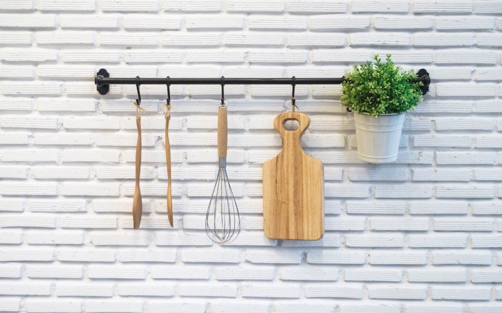 Utensils on a hanging rack