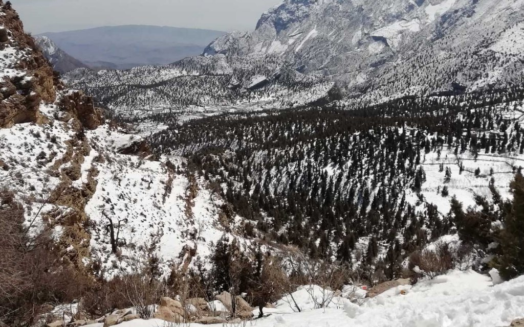 A panoramic view of Ziarat in Balochistan
