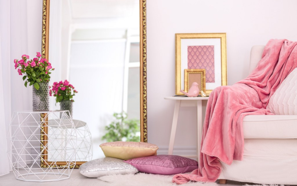 Floor length mirror modern luxurious room