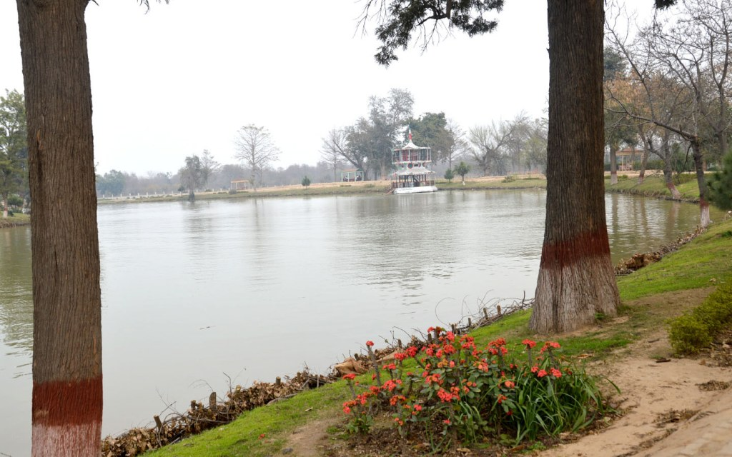 Lake at Changa Manga Forest Park located near Lahore