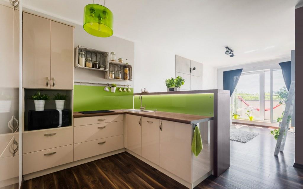 Modern kitchen design with open layout